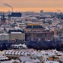 Pražská panoramata, pohled z Hradčanského náměstí