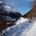 předjaří v Alpách