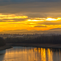 Západ slunce na Žermanické přehradě