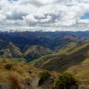 výhled ze sedla hory Ben Lomond  na NZ