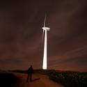 Větrná elektrárna v noci - Velká Kraš