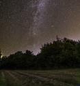 Noční obloha nad Vysočinou