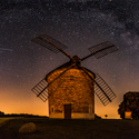 Mléčná dráha nad mlýnkem