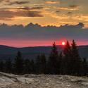 ...východ slunce na Pustevnách