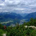 Bad Ischl - pohled z horní stanice lanovky Katrin