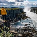 Pohled na vodopád Selfoss