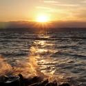 Západ slunce nad Balatonem