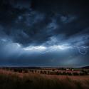 V bouři