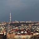 Pohled  z  Petřína.