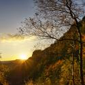 Podzimní západ slunce v Českém Švýcarsku