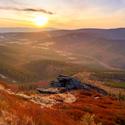 Obří skály západ slunce