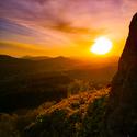 Východ slunce na Středním vrchu