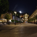 Srdce Karlových Varů před půlnocí.