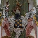 Oltář poutního kostela sv. Jana Nepomuckého na Zelené hoře ve Žďáru nad Sázavou