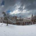 Břevnovské klášterní lehce pocukrované panorama