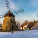 zimní mlýn