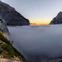 Údolí Vrata v mlze