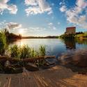 Západ slunce nad Podhradský rybníkem