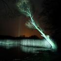 Noční hladina rybníka