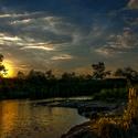 Soumrak nad jezerem