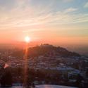 Zimní svítání nad Brnem