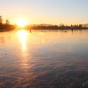 Zimní večer na ledu