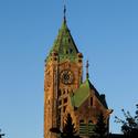 Kostel při západu slunce