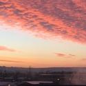 Východ slunce na Východní Moravě