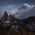 Pandim 6691m, Sikkim, Indie