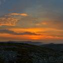 Krepuskuly při západu Slunce