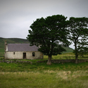 Opuštěný dům uprostřed skotské vysočiny