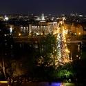 Večerní Praha z Letné
