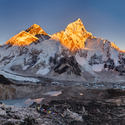 Západ slunce nad Everestem