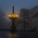Mlha ve městě.