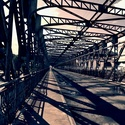 Old iron bridge in VELTRUSY