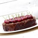 Čokoládový dort s třešněmi