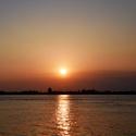 Západ slnka nad Benátkami