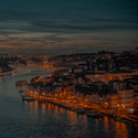 Porto po západu