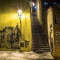 Lampa a schody