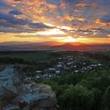 Západ slnka nad Šariš hradom