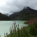 mračna nad přehradou Silvrettasee