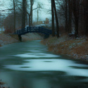 Zima v zámeckém parku