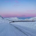 zasněžený fjord