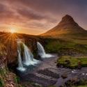 Vodopád Kirkjufellsfoss - hora Kirkjufell