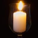 hořící svíčka ve sklenici pozadí