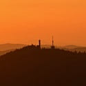 západ slunce nad Svatoborem