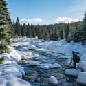 První sníh v Jizerkách