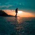 Západ slunce na přehradě pohledem GoPro