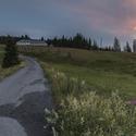 svítání nad Březníkem
