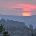 Západ slnka z Kysuc